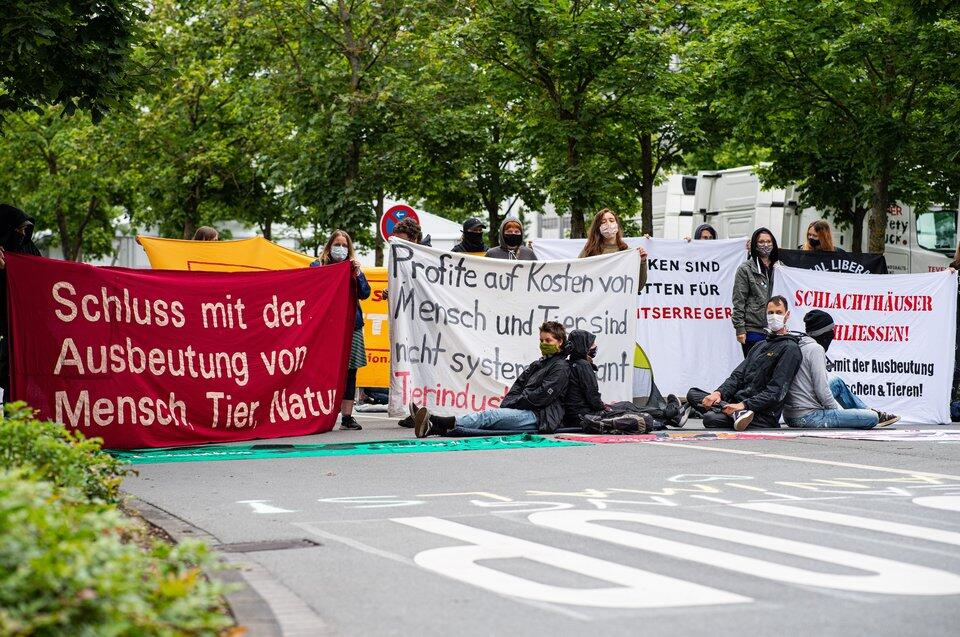 Protest bei Tönnies